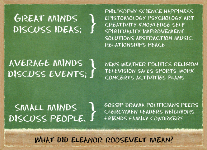 Eleanor Roosevelt Quotes New Do You Agree With Eleanor Roosevelt's Quote About Great Average And